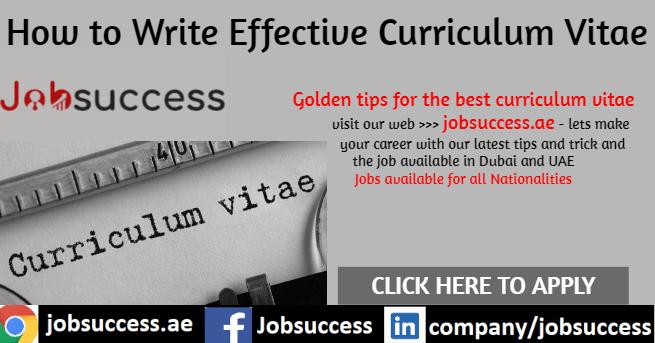 How to Write Effective Curriculum Vitae