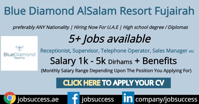 Blue Diamond AlSalam Resort Fujairah Careers