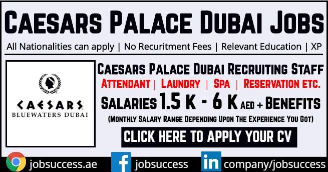 Caesars Palace Bluewaters Island Dubai Careers