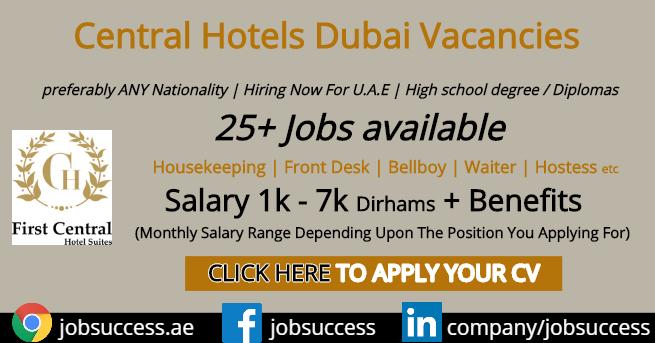 Central Hotels Dubai Careers