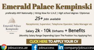 Emerald Palace Kempinski Hotel Careers