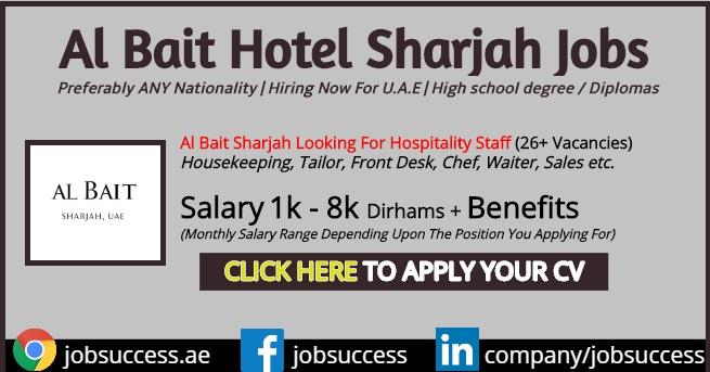Al Bait Sharjah Hotel Careers - GHM Hotels Latest Openings