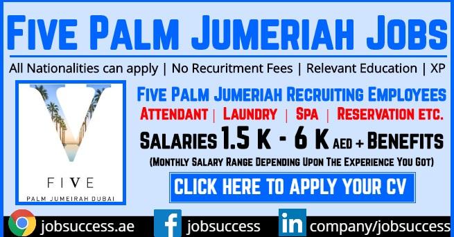 Five Palm Jumeirah Dubai Careers