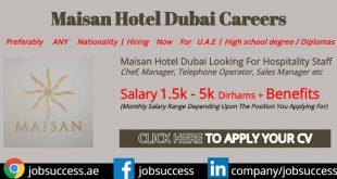 Maisan Hotel Dubai Careers