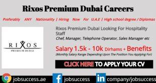Rixos Premium Dubai Careers
