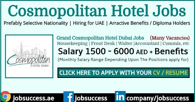 Cosmopolitan Hotel Dubai Careers