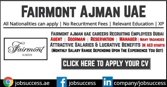 fairmont ajman careers announced opportunities