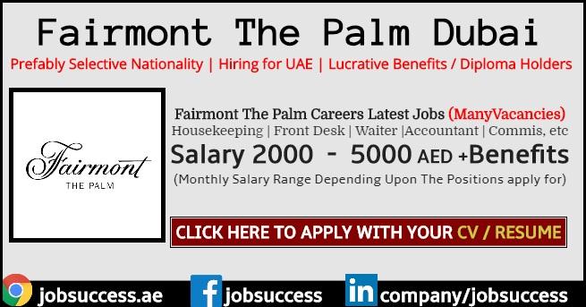 Fairmont The Palm Dubai Careers