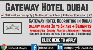 Gateway Hotel Dubai Careers