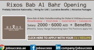 Rixos Bab Al Bahr Careers