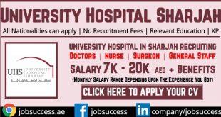 University Hospital Sharjah Careers