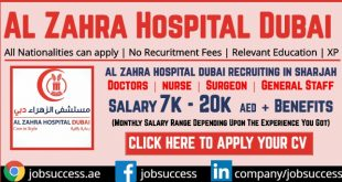 Al Zahra Hospital Dubai Careers