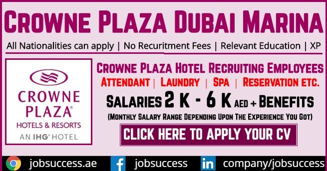 Crowne Plaza Dubai Marina Careers