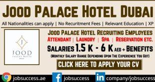 Jood Palace Hotel Dubai Careers