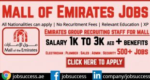 Mall Of Emirates Careers