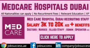 Medcare Hospitals & Medical Centres Careers