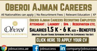 Oberoi Ajman Careers