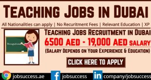Teaching Jobs in Dubai