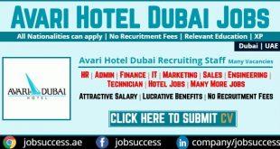 Avari Hotel Dubai Careers