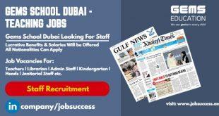GEMS School Dubai Vacancies