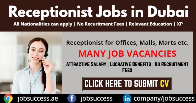 Receptionist Jobs in Dubai