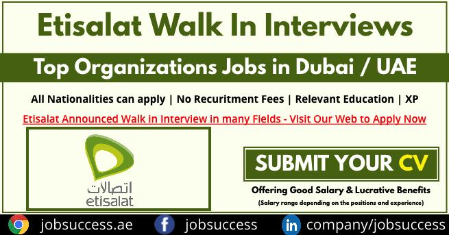 Etisalat Academy Walk In Interview
