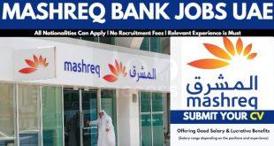 Mashreq Bank UAE Careers